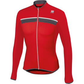 Sportful Pista Long Sleeve Jersey Men Red/Anthracite/White